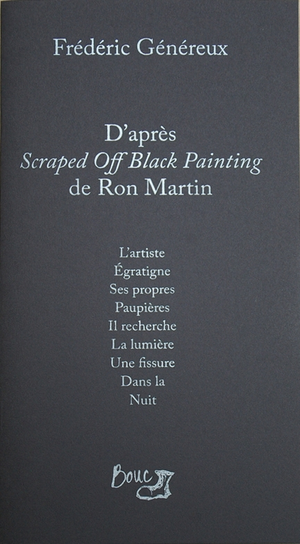 D'après Scraped Off Black Painting de Ron Martin